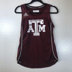 A&M Texas Aggie Adidas Small Racerback Tank Top